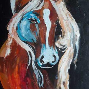 oil painting by Mariam Kotrikadze