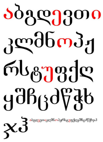 Georgian Alphabet Mariam Bughadze's Art world