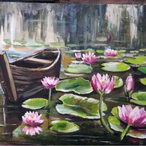 water lilies by Mariam Kotrikadze